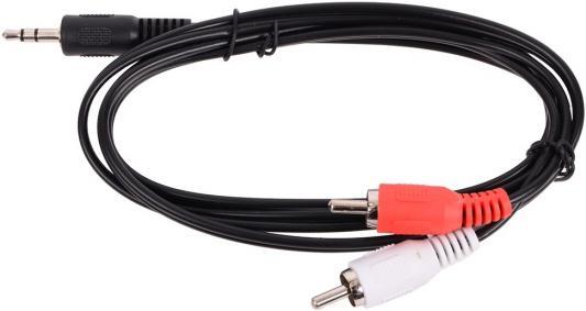 Кабель соединительный 1.0м Belsis 3.5 Jack - 2xRCA BL1066 кабель 3 5m 2xrca 5м belsis sn1038 sparks nickel стерео аудио 3 5mm plug 2xrca