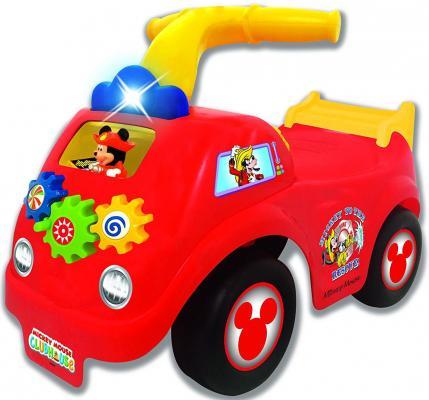 Каталка-пушкар Kiddieland Пожарная машина Микки Мауса красно-желтый от 1 года пластик