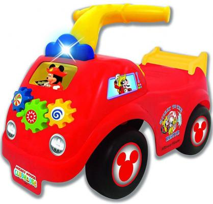 Каталка-пушкар Kiddieland Спортивная машина Микки Мауса красный от 1 года пластик lori магниты из гипса клуб микки мауса lori