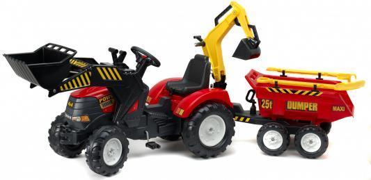 Трактор-экскаватор Falk педальный с прицепом красный 225 см