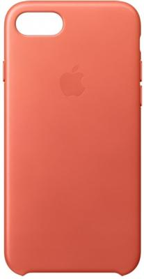 Накладка Apple Leather Case для iPhone 7 оранжевый MQ5F2ZM/A накладка apple leather case для iphone se чёрный mmhh2zm a