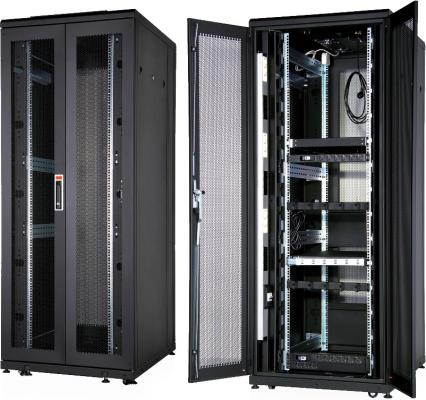Шкаф напольный 19 42U Estap CLD70642U6012BF1R1 600x1200mm передняя дверь одностворчатая перфорированная задняя дверь двустворчатая перфорированная черный