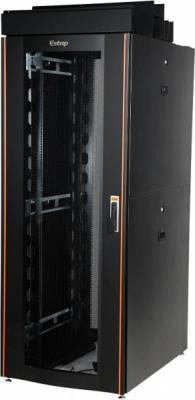 """Шкаф напольный 19"""" 42U Estap CLD70642U8012BF1R1 800x1200mm передняя дверь одностворчатая перфорированная задняя дверь двустворчатая перфорированная черный"""