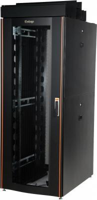 """Шкаф напольный 19"""" 47U Estap CLD70647U6010BF1R1 600x1000mm передняя дверь одностворчатая перфорированная задняя дверь двустворчатая перфорированная черный"""