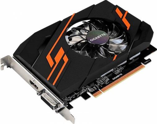 Видеокарта 2048Mb Gigabyte GeForce GT1030 PCI-E DDR5 64bit DVI HDMI HDCP GV-N1030OC-2GI Retail