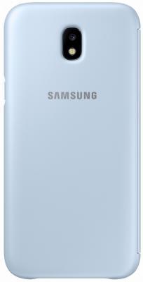 Чехол Samsung EF-WJ730CLEGRU для Samsung Galaxy J7 2017 Flip Wallet голубой