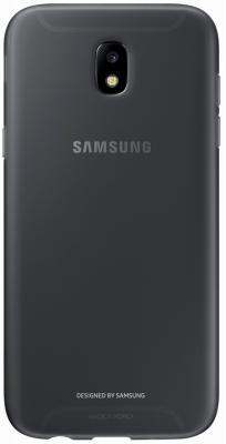 Чехол Samsung EF-AJ730TBEGRU для Samsung Galaxy J7 2017 Jelly Cover черный чехол для смартфона samsung galaxy j7 2017 черный ef aj730tbegru ef aj730tbegru