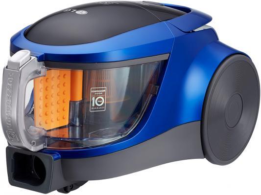 Пылесос LG VK76A09NTCB сухая уборка голубой металлик пылесос lg vk76a06ndb 1600вт голубой