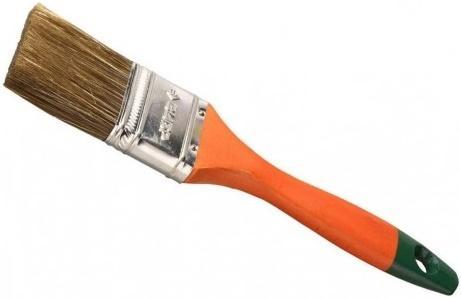 Кисть плоская Зубр ЛАЗУРЬ-МАСТЕР смешанная щетина деревянная ручка 25мм 4-01009-025