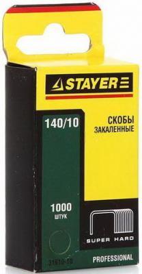 Скобы Stayer Profi закаленные тип 140 10мм 1000шт зеленый 31610-10