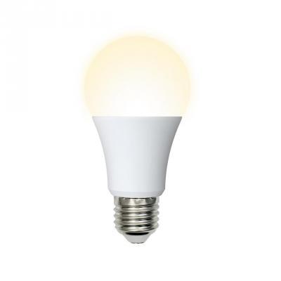 Лампа светодиодная (UL-00001064) E27 7W 3000K шар матовый LED-A60-7W/WW/E27/FR/O светодиодная лампа эра f led a60 e27 7w 220v белый свет