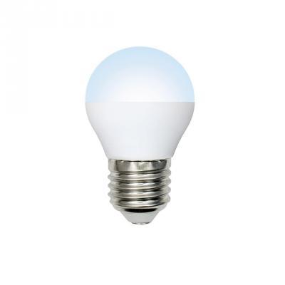 Лампа светодиодная (UL-00001070) E27 6W 6500K шар матовый LED-G45-6W/DW/E27/FR/O лампа светодиодная volpe led g45 6w nw e14 fr s 10шт