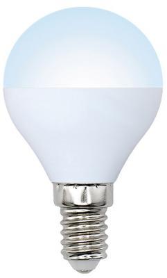 Лампа светодиодная (UL-00001071) E14 6W 6500K шар матовый LED-G45-6W/DW/E14/FR/O