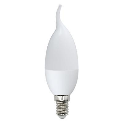 Лампа светодиодная (UL-00001773) E14 6W 3000K свеча на ветру матовая LED-CW37-6W/DW/E14/FR/O