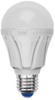 Лампа светодиодная диммируемая (UL-00000687) E27 11W 3000K шар матовый LED-A60-11W/WW/E27/FR/DIM лампа светодиодная uniel led a60 11w ww e27 fr dim plp01wh