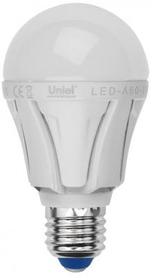 Лампа светодиодная диммируемая (UL-00000687) E27 11W 3000K шар матовый LED-A60-11W/WW/E27/FR/DIM uniel лампа светодиодная uniel диммируемая led a60 11w ww e27 fr dim plp01wh ul 00000687