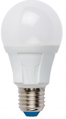 Лампа светодиодная (UL-00001522) E27 8W 3000K груша матовая LED-A60 8W/WW/E27/FR PLP01WH uniel лампа светодиодная uniel диммируемая led a60 11w ww e27 fr dim plp01wh ul 00000687