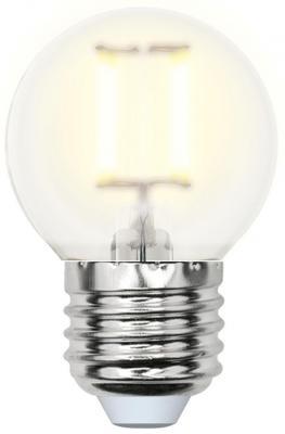 Лампа светодиодная шар Uniel Sky E27 6W 3000K (UL-00000302) LED-G45-6W/WW/E27/FR PLS02WH лампа светодиодная uniel led c35 6w ww e14 fr pls02wh 10шт