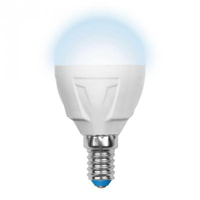 Лампа светодиодная шар Uniel UL-00000771 E14 7W 4500K LED-G45-7W/NW/E14/FR PLP01WH лампа светодиодная шар uniel ul 00000772 e27 7w 4500k led g45 7w nw e27 fr plp01wh