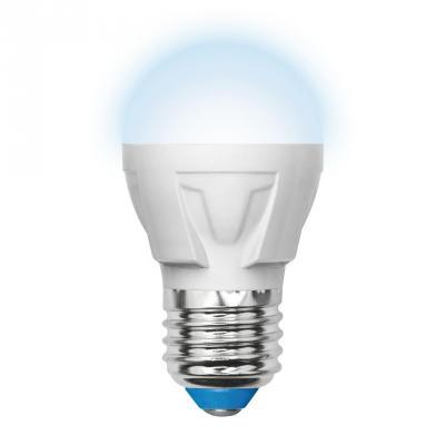 Лампа светодиодная шар Uniel UL-00000772 E27 7W 4500K LED-G45-7W/NW/E27/FR PLP01WH лампа светодиодная шар uniel ul 00000772 e27 7w 4500k led g45 7w nw e27 fr plp01wh