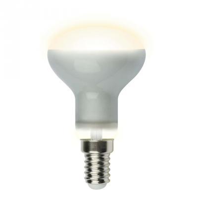 Лампа светодиодная (UL-00001491) E14 6W 3000K рефлектор матовый LED-R50-6W/WW/E14/FR PLS02WH лампа светодиодная uniel led c35 6w ww e14 fr pls02wh 10шт