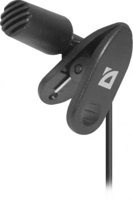Микрофон Defender MIC-109 черный кабель 1.8м 64109 микрофон defender mic 115 1 7m black 64115