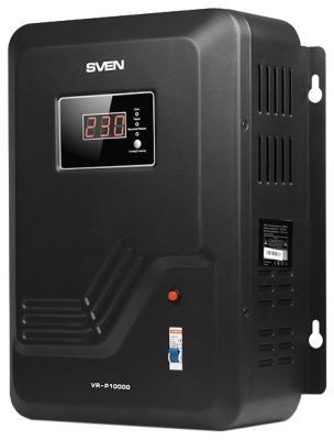 Стабилизатор напряжения Sven VR-P10000 черный стабилизатор напряжения sven avr slim 500 lcd white