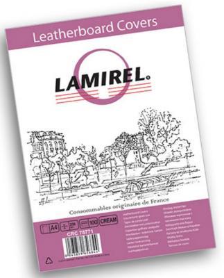 Фото - Обложка Fellowes Lamirel A4 бежевый 100шт LA-7877101 обложка для переплетов fellowes lamirel a4 250г м2 черный 100шт crc 78687