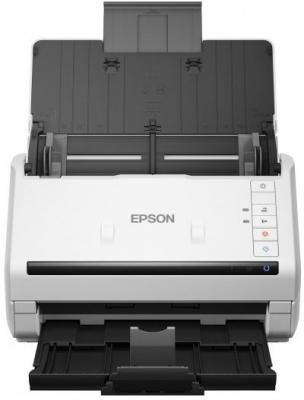 Сканер Epson WorkForce DS-530 протяжный CIS 600x600dpi B11B226401 сканер epson workforce ds 770