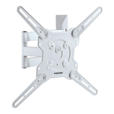Кронштейн Kromax Optima-406W белый 22-65 настенный от стены 60-506мм наклон +5°/-15° VESA 400х400мм до 40кг кронштейн для тв kromax star 22
