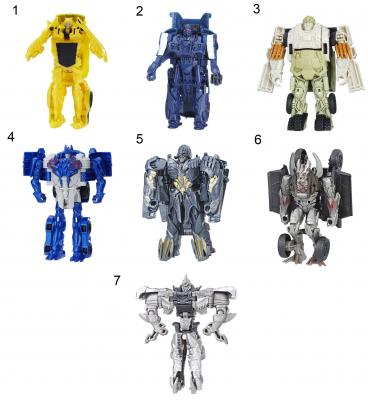 Игрушка Transformers Трансформеры 5: Последний рыцарь - Уан-Степ ассортимент, C0884 transformers маска bumblebee c1331