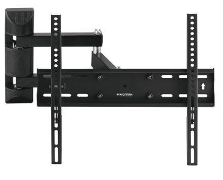 Кронштейн Kromax Optima-405 серый 22-55 настенный от стены 76-405мм наклон +5°/-15° VESA 400х400мм до 30кг кронштейн kromax optima 100 черный 10 28 настенный vesa 100х100мм до 25кг