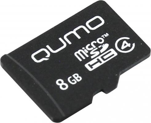 Карта памяти Micro SDHC 8Gb class 4 QUMO QM8GMICSDHC4NA карта памяти micro sdhc sony sr8nyat 8gb