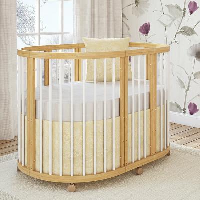 Кроватка овальная 120х90см Giovanni Shapito TreeO (kombi)
