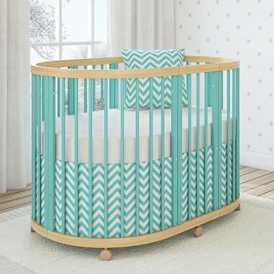 Кроватка овальная 120х90см Giovanni Shapito TreeO (mint)
