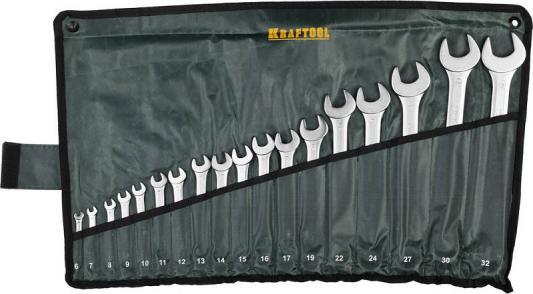 Набор ключей гаечных Kraftool Expert 18шт 27079-H18 набор kraftool expert 26130 h10