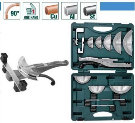 Трубогиб Kraftool Industrie для высокоточной гибки труб под углом до 90град в боксе 10 12 14 15 16 18 20 22мм 23502-H9 от 123.ru