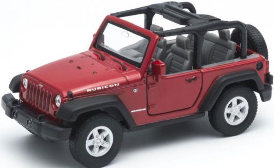Джип Welly Jeep Wrangler Rubicon 1:31 красный welly модель автомобиля audi r8 v10 цвет красный