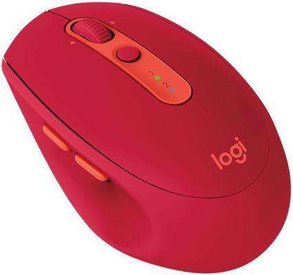 Мышь беспроводная Logitech M590 красный USB 910-005199 мышь беспроводная logitech m590 серый usb 910 005198
