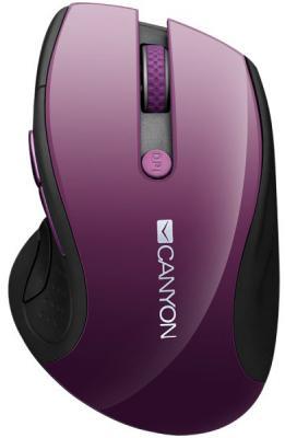 Мышь беспроводная Canyon CNS-CMSW01P фиолетовый USB