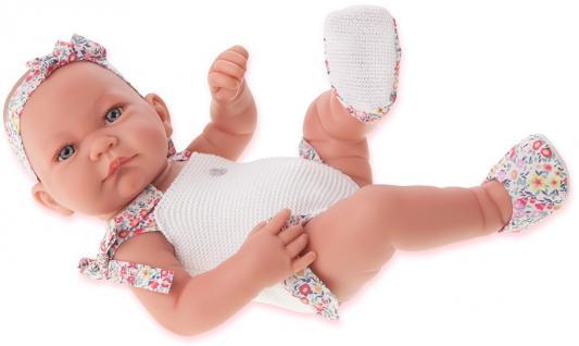 Кукла-младенец Munecas Antonio Juan Ника 42 см в белом 5007W кукла munecas antonio juan белла в шляпке блондинка 45 см 2808p