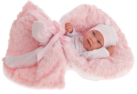 """Кукла-младенец Munecas Antonio Juan """"Эдуарда"""" 42 см в розовом 5006P"""