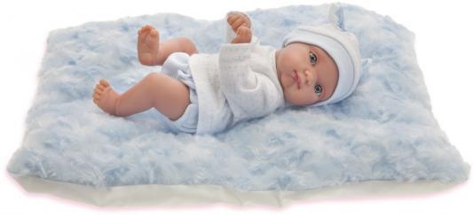 Пупс Munecas Antonio Juan Пепито мальчик, на голубом одеялке 21 см 3903B