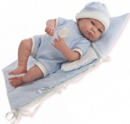 Кукла Munecas Antonio Juan Juan Ферран в голубом 40 см смеющаяся со звуком jorge juan туфли