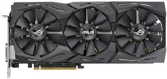 Видеокарта 8192Mb ASUS GeForce GTX1080 STRIX PCI-E 256bit GDDR5X DVI HDMI DP ROG-STRIX-GTX1080-A8G-11GBPS Retail asus geforce gtx1080 strix 1670mhz pci e 3 0 8192mb 10010mhz 256bit dvi 2hdmi 2dp strix gtx1080 a8g gami