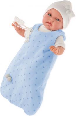 Пупс Munecas Antonio Juan Самбор в голубом 34 см со звуком 7031B кукла antonio juan кукла самбор light blue 7031b