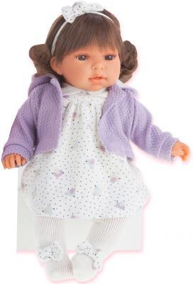 Кукла Munecas Antonio Juan Лорена в фиолетовом 37 см со звуком 1559V