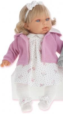 Кукла Munecas Antonio Juan Лорена в розовом 37 см со звуком 1559P munecas antonio juan кукла эвита в розовом 38 см munecas antonio juan