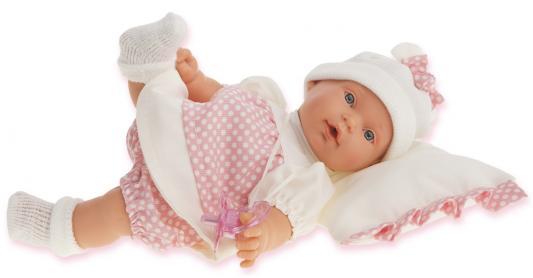 """Кукла Munecas Antonio Juan """"Ланита"""" на бежевой подушке 27 см плачущая ланита обои ланита 3 0169"""