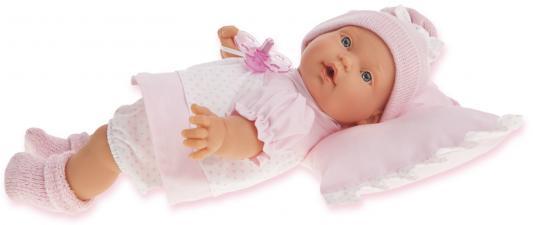 "цена Кукла Munecas Antonio Juan ""Ланита на розовой подушке"" 27 см плачущая 1111P онлайн в 2017 году"